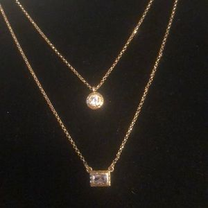 Kate spade Elegant edge Double pendant necklace
